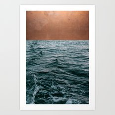 Ocean + Copper #society6 #buyart #decor Art Print