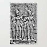 Cambodian Fertility Goddesses Canvas Print