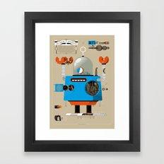 Anatomy Bot Framed Art Print