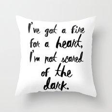 One Direction // Drag me down lyrics Throw Pillow