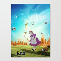 Alice Wondering Canvas Print