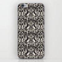 Victorian Cat Damask iPhone & iPod Skin