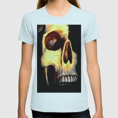 Skull Womens Fitted Tee Light Blue SMALL