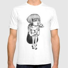 Princess & Frog White Mens Fitted Tee SMALL
