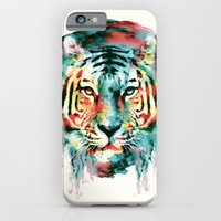 tiger iPhone & iPod Cases featuring TIGER by RIZA PEKER