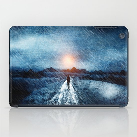 it's raining again iPad Case