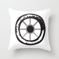 wheels 3x Throw Pillow