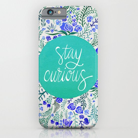 Stay Curious – Navy & Turquoise iPhone & iPod Case