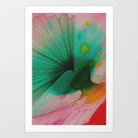 Watercolors and Ink Art Print