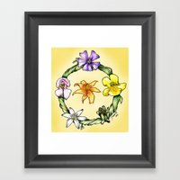 Garland Of Flowers Framed Art Print