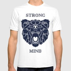 Strong Mind Mens Fitted Tee White SMALL