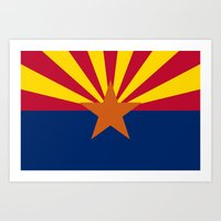 Arizona State Flag, Auth… Art Print