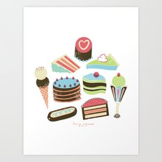 Too Sweet! Art Print