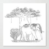 Colouring Canvas - Baoba… Canvas Print