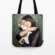 Meow Means Woof Tote Bag