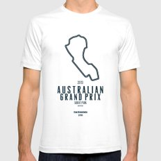 2013 Australian Grand Prix Mens Fitted Tee White SMALL