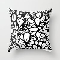 Crazy Flowers Throw Pillow