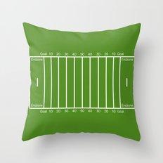 Football Field design Throw Pillow