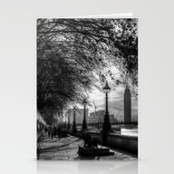 River Thames Path Stationery Cards