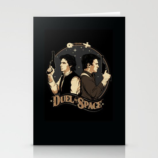 Duel in Space Stationery Card