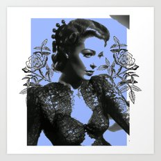 1940's Screen Siren Tatt… Art Print