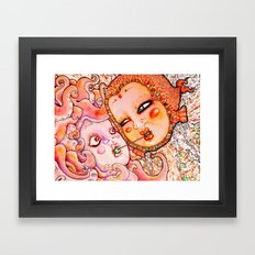 Octopus Love Framed Art Print