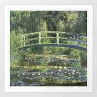 Vintage Monet Bridge  Art Print