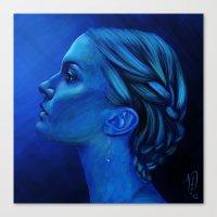Blauw Canvas Print