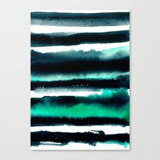 Abstract green and black painting Canvas Print