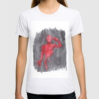 Last Man Out Womens Fitted Tee Ash Grey SMALL