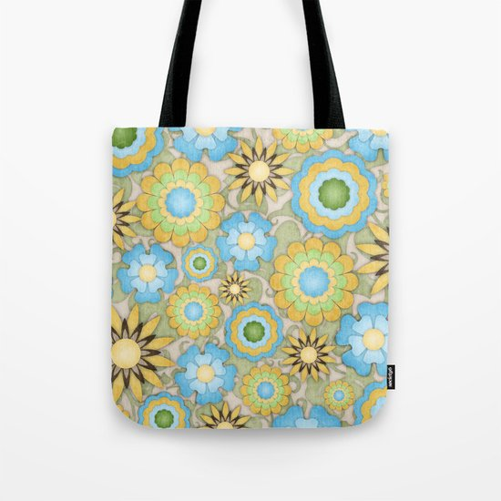English Country Floral Tote Bag