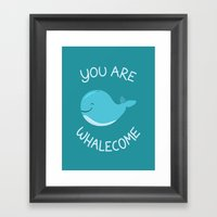 Whale, thank you! Framed Art Print