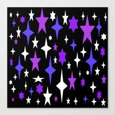 Purple Blue Atomic Stars Canvas Print