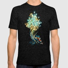 ElectriciTree Mens Fitted Tee Tri-Black SMALL