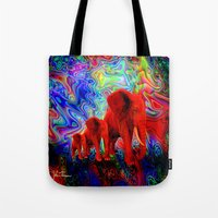 Psychedelic Pachyderms Tote Bag