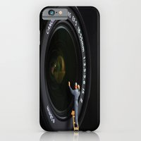 iPhone & iPod Case featuring Keeping the Lenses Clean by liberthine01
