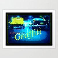 graffiti Art Prints featuring Graffiti by elkart51