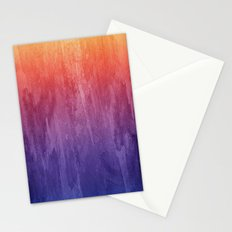 Purple, Pink, Orange Watercolor Gradient Stationery Cards