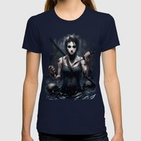 Tomb Raider Womens Fitted Tee Navy SMALL