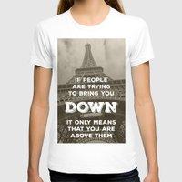 eiffel T-shirts featuring Eiffel tower by Solar Designs