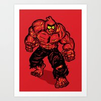 Angry Bird Hulk Red Art Print