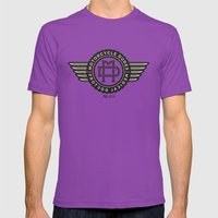 Motorcycle dudes tshirt Mens Fitted Tee Ultraviolet SMALL