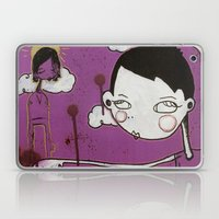 Purple Girl Laptop & iPad Skin
