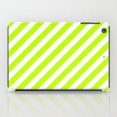 Diagonal Stripes (Lime/White) iPad Case