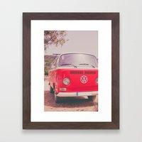 Red Ride Framed Art Print
