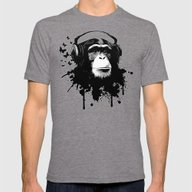 T-shirt featuring Monkey Business - White by Nicklas Gustafsson