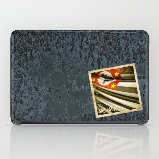 Sticker of Brazil (San Paulo) flag iPad Case