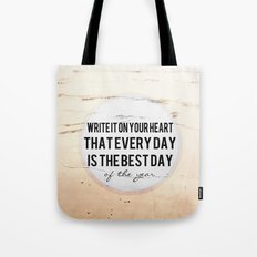 Write It On Your Heart  Tote Bag