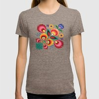 Slavic Folk Pattern Womens Fitted Tee Tri-Coffee SMALL