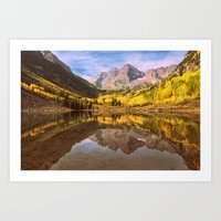mountains Art Prints featuring mountains. by 2sweet4words Designs